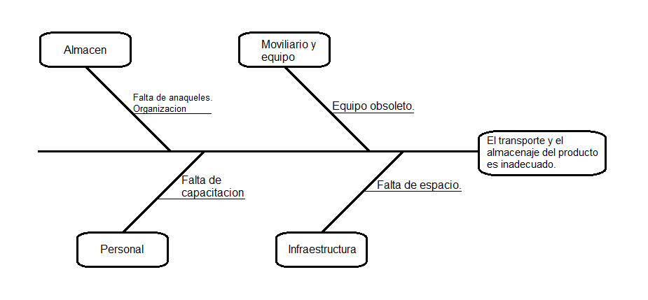diagrama de ishikawa para almacenes
